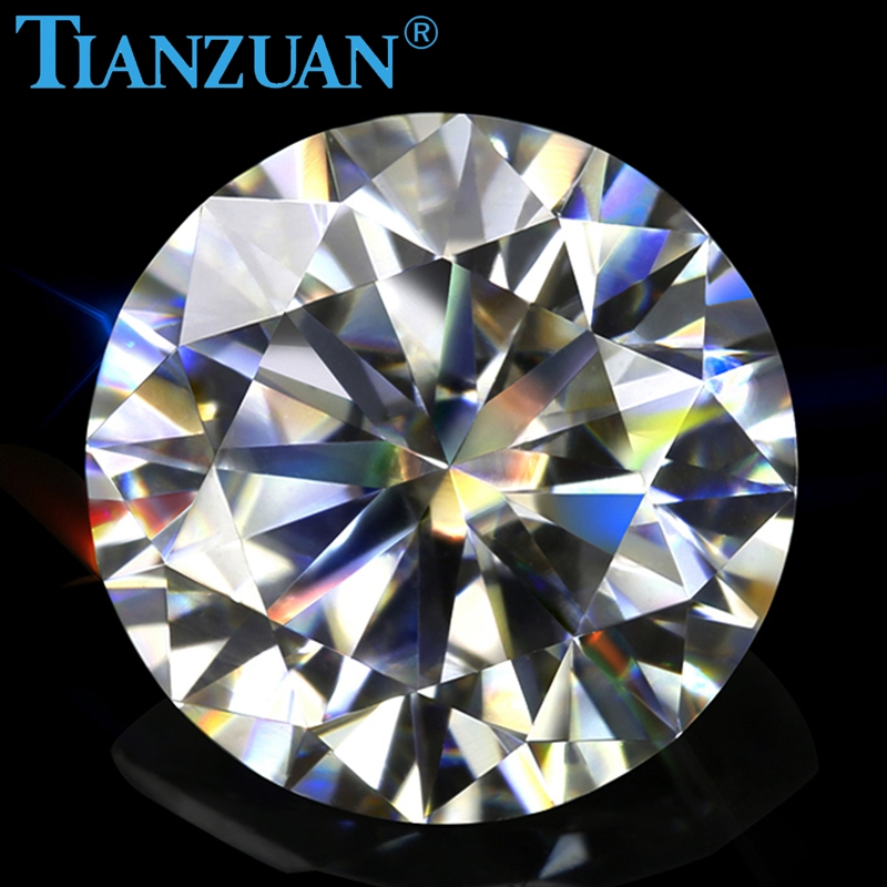 Image 3 - New  sales promotion 6.5mm GH color white Round Brilliant cut moissanites loose gems stoneLoose Diamonds & Gemstones   -