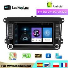 LeeKooLuu – autoradio multimédia Android, GPS, 2din, pour VW/Volkswagen Golf/Polo/Tiguan/Passat/b7/b6/SEAT/leon/Skoda/Octavia