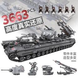 XingBao 06006 LegoED Creatore MOC Serie Militare Il KV-2 Serbatoio Set di Blocchi di Costruzione di Giocattoli Educativi Per I Bambini Modello di Kit FAI DA TE regali
