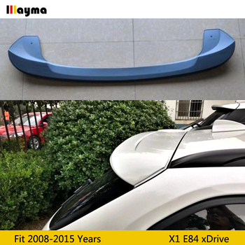 For BMW X1 xDrive roof wing spoiler E84 ABS plastic primer Car styling rear trunk spoiler 2008 - 2015 sport style