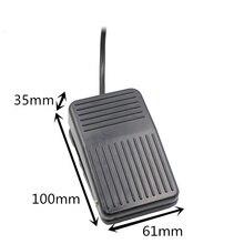 SPDT нескользящий металлический мгновенный Электрический выключатель с педалью, черный, одиночное действие, вкл., от пола, топает, ножной переключатель, переменный ток, 250 В, 10 А