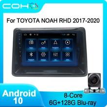 Coho para toyota noah rhd 2017-2020 rádio do carro reprodutor multimídia estéreo android 10.0 octa cor 6 + 128g