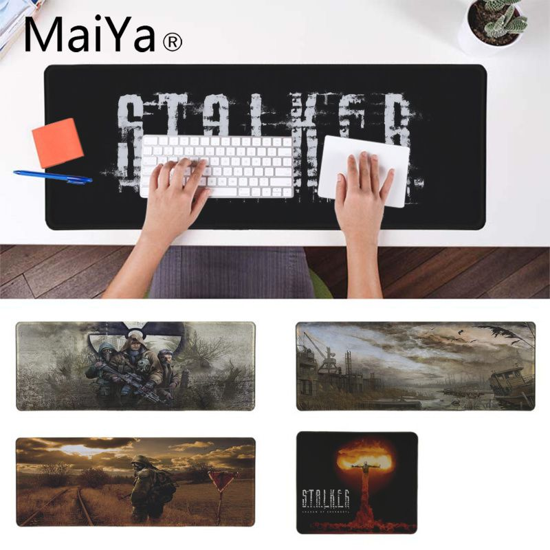 MaiYa New Printed Stalker Natural Rubber Gaming Mousepad Desk Mat Russia Rubber PC Computer Gaming Mousepad Desk Mat
