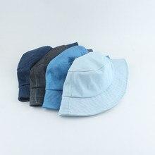 Chapeau seau en Denim pliable pour hommes et femmes, chapeau de pêcheur en coton, unisexe, mode Bob Hip Hop, Gorros, Panama