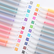 Ensemble de stylos à doublure Icolor 12/24 pièces, pointe en Fiber Extra Fine, marqueurs de couleur à base d'eau pour dessin et écriture, fournitures scolaires F581