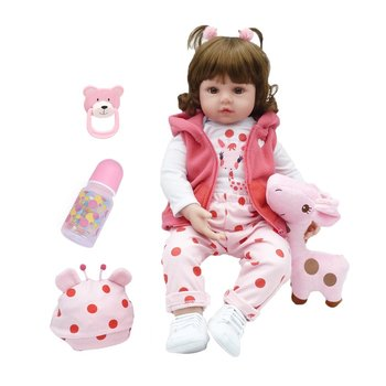 48Cm Soft Cute Reborn Dolls Lifelike Alive Babies Doll Environmental Simulation Baby Creative Gifts  Infant gifts