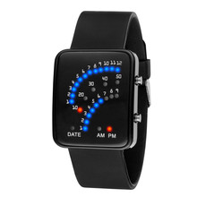 Men Sports LED Watches Men Digital Watch Men Watch Silicone Electronic Wristwatches Electronic Clock Hodinky digital relogio cheap Sanwony NONE Plastic CN(Origin) 23cm 3Bar Buckle Rectangle 15mm 10mm Acrylic No package 40mm