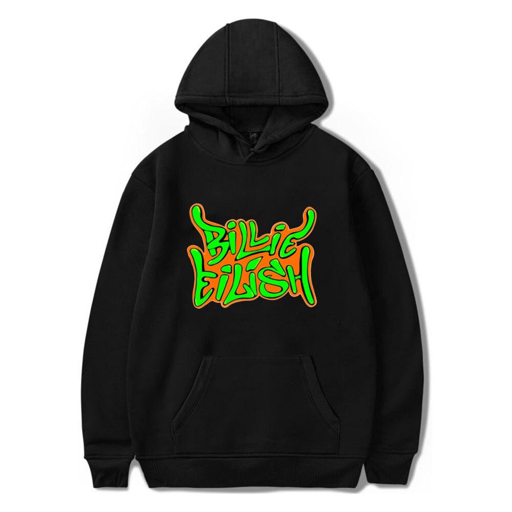 Boys Sweatshirts Harajuku Hoodie For Teenagers Billie Eilish Letter Prints Kids Hoodies Girls Winter Clothing Billie Fashion Top
