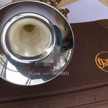 Bach LT180S-72 труба посеребренный золотой ключ Плоский Bb профессиональный трубный колокольчик Топ Музыкальные инструменты латунь