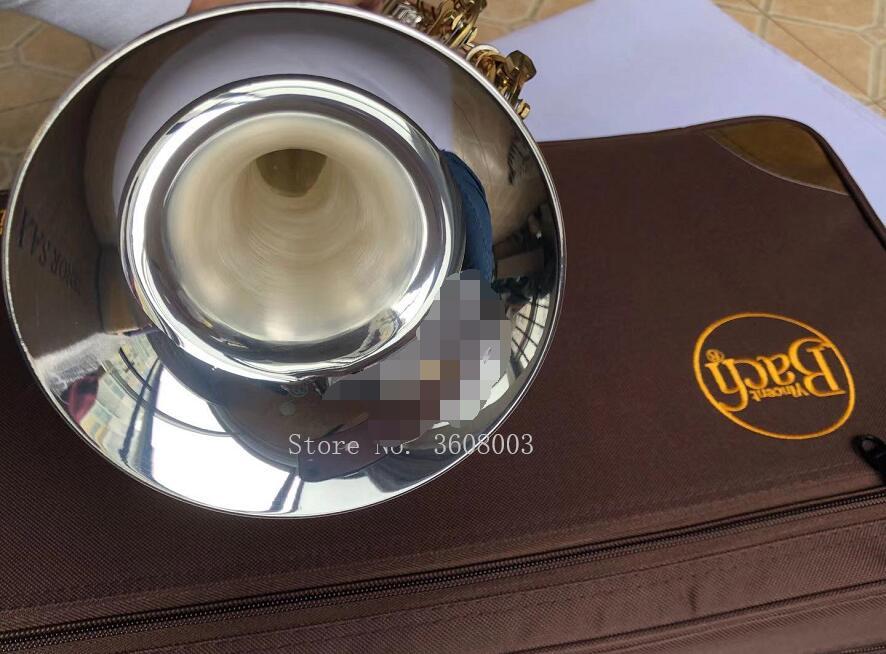 LT180S-72 de Bach trompette argent plaqué or clé plate Bb professionnel trompette cloche haut instruments de musique laiton
