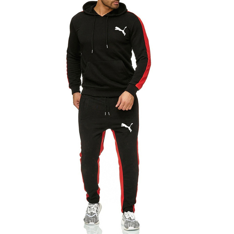 New 2019 Men Track Suit Fashion Jogging Homme Sportswear Two Piece Sets All Cotton Chandal Hombre Thick Hoodie+sweatpants Men