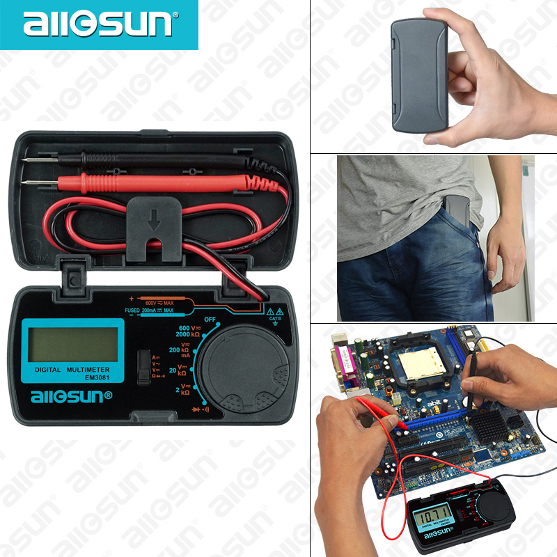 all sun all-sun EM3081 EM3082 デジタルマルチメータ 3 1/2 1999 AC/DC 電流計電圧計オームポータブルメーター電圧計