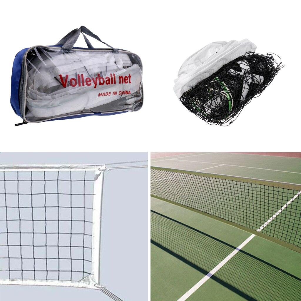 Официальный стандартный размер сетка для волейбола со стальным кабелем и сумкой для хранения