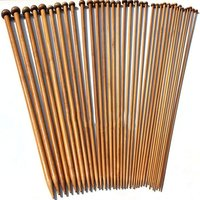 36Pcs/Set Carbonized Bamboo Crochet 2 10mm Single Pointed Smooth Knitting Needles for Scarf Sweater Knitting Tools|Sewing Needles| |  -