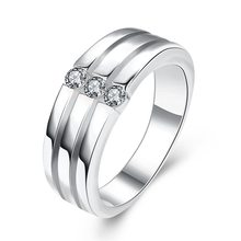 2019 New arrive 925 silver color rings for woman man jewelry size choose gift jewelry RL01(China)
