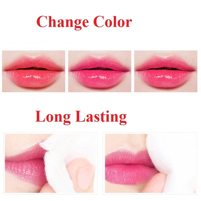 New Moisture Lip Balm Aloe Vera Natural Lip Balm Temperature Color changing Makeup Lipstick Long Lasting Cosmetics TSLM2 4