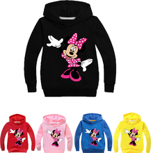 Winter Minnie Mickey Mouse Toddler Baby Kids Boys Girls Hooded Cartoon 3D Hoodie