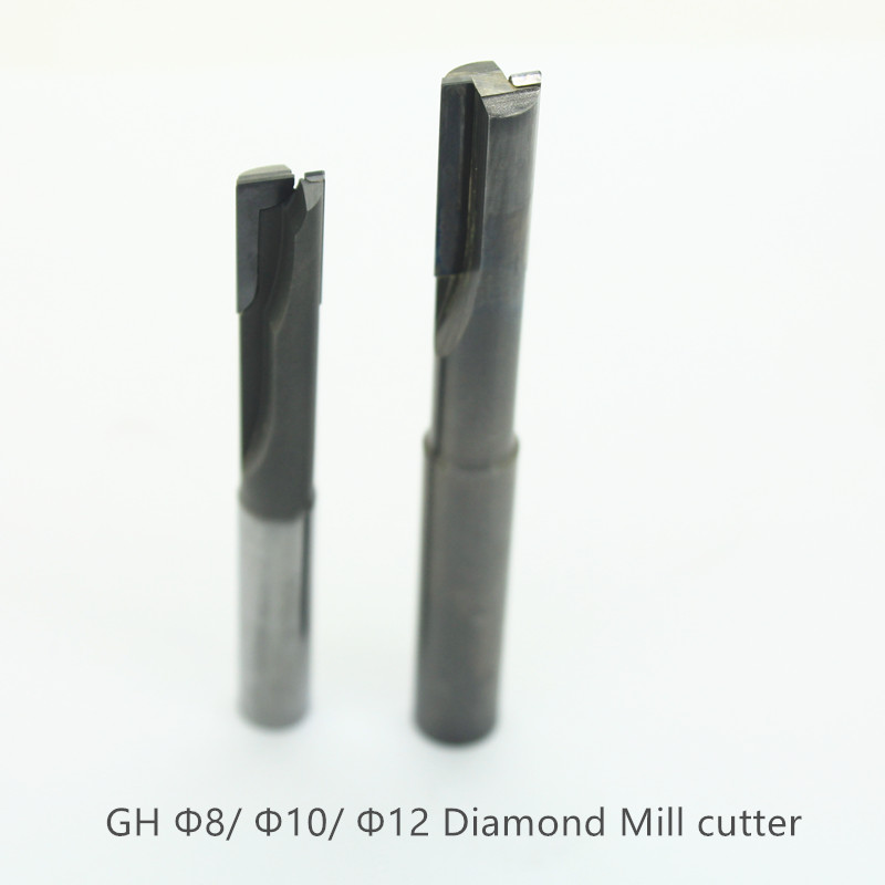 Diamond Milling <font><b>cutter</b></font> 6 <font><b>mm</b></font> <font><b>8</b></font> <font><b>mm</b></font> 10 <font><b>mm</b></font> router bits 2 flutes Straight end <font><b>cutter</b></font> for wood Acrylic PVC plastics aluminum milling image