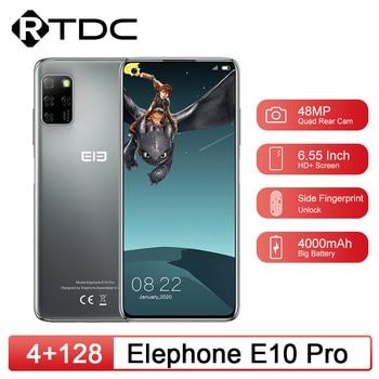 Elephone E10 Pro 6.55 inch Screen 4GB 128GB 48MP Quad Rear Cameras Octa Core Smartphone 4000mAh Android 10.0 NFC Mobile Phone
