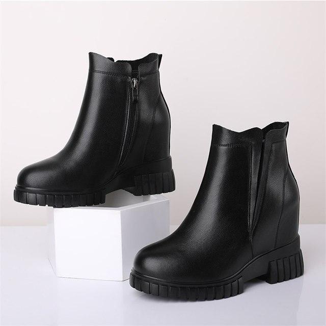 Туфли лодочки женские из натуральной кожи на высоком каблуке