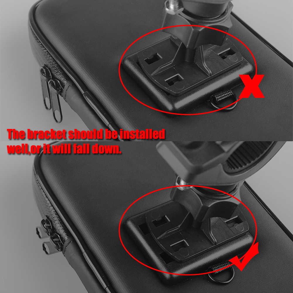 אופניים אופנוע טלפון מחזיק Stand w/שדרוג עמיד למים פאוץ תיק עבור iPhone Xs מקסימום GPS עבור Huawei P20 אופניים כידון הר