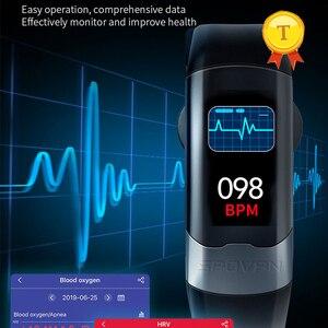 Image 3 - 2020 nova atualização exata freqüência cardíaca monitoramento de pressão arterial banda inteligente pulseira ecg ppg relógio inteligente homem mulher esportes