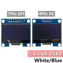 Rohs módulo oled de 1.3 polegadas branco/azul spi/iic i2c comunicar cor 128x64 1.3 polegadas oled lcd módulo de exibição led 1.3