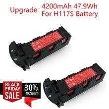 Elevação 11.4v 4200mah bateria para hubsan h117s zino gps rc quadcopter peças de reposição bateria de vôo inteligente para rc câmera zangão