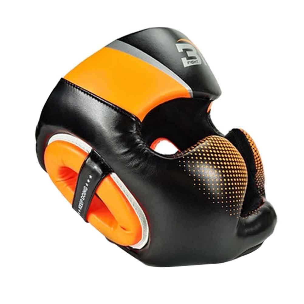 Для женщин мужчин молодежи взрослых атлет соревнований тхэквондо из искусственной кожи Муай Тай головные уборы боксерский шлем Защита спарринг каратэ Санда - Цвет: Оранжевый