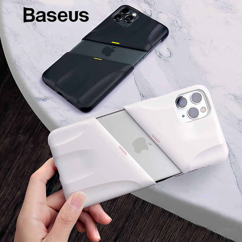 Baseus pour iPhone 11 2019 étui rigide PC antichoc Support sans fil charge pour iPhone 11 Pro Max 5.8 pouces 6.1 pouces 6.8 pouces