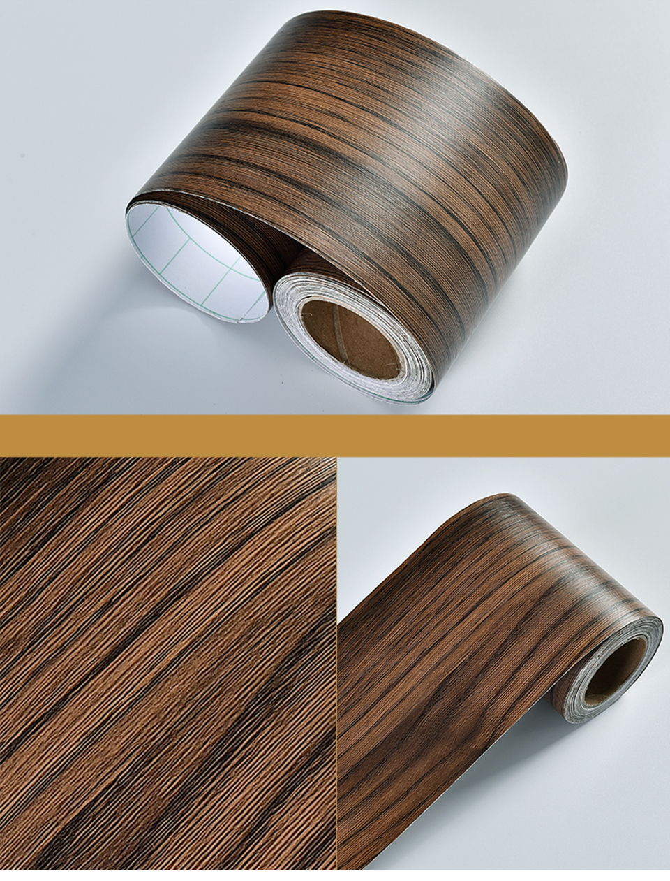Wood Self Adhesive Window Decal Living Room Floor Border Skirting Contact Paper Waterproof Waist Line Wallpaper Home Improvement H70a335d46fd442e48bc7718fc6fe07c0H