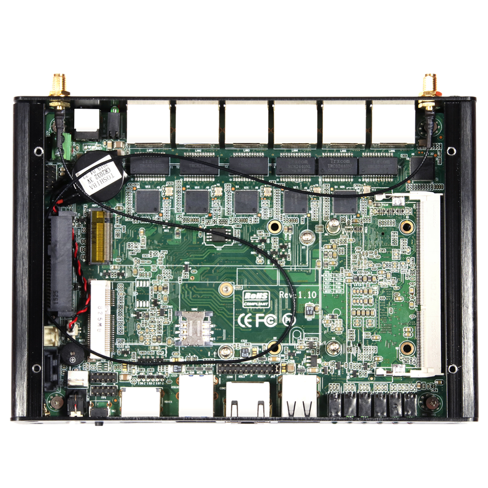 Mini PC with 4x USB Port and Intel Core i3-5010U 4010U Processor Option including 6 Gigabit LAN 4