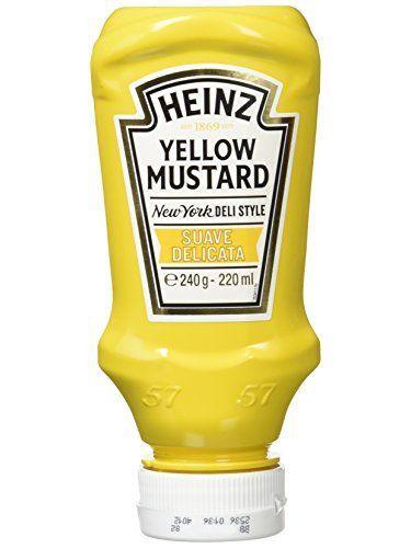 Heinz - Mostaza, 240 Gr - [Pack De 4]