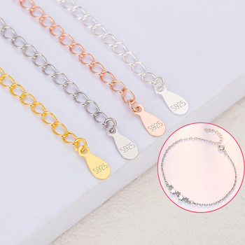 1Pcs 5cm Extension Chain 925 Silver Necklace Bracelet Jewelry Drop  Extended Adjustable Chains for DIY Making Findings