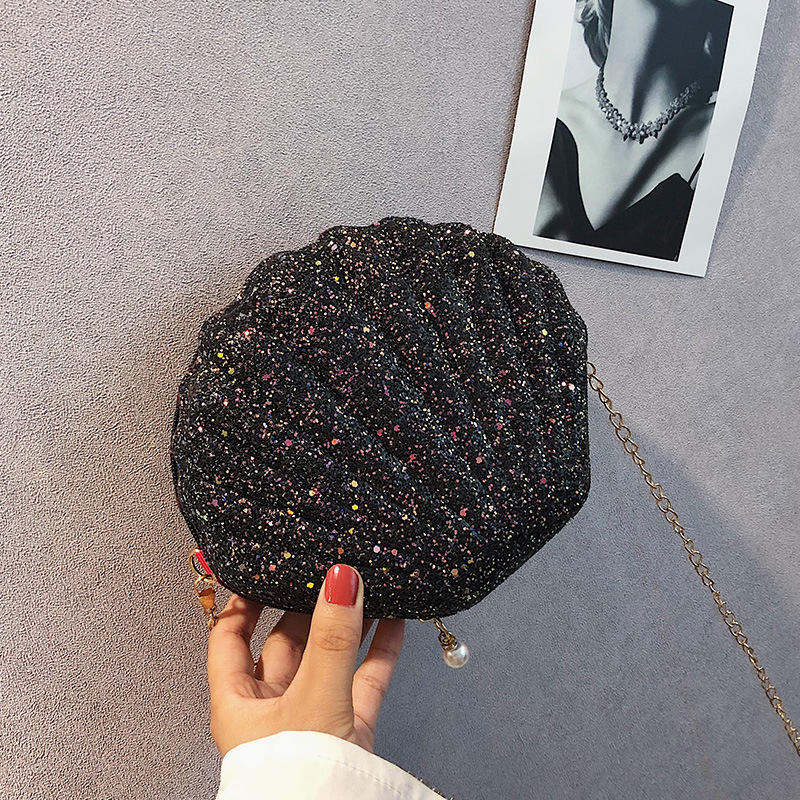 Shoulder Handbags Shell Bag Chain Cute Sequins Small Bag Phone Money Pouch Zipper Crossbody Bags For Women 2019 Bolsa Feminina