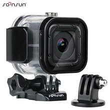 SOONSUN 60m Underwater Waterproof Diving Housing Protective Case Cover for GoPro Hero 5/4 Session Go Pro Session Accessories