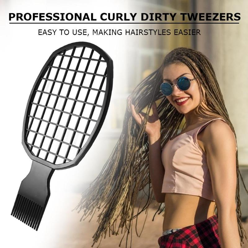 Women Men Afro Dirty Braid Comb Hair Twist Curly Perm Hairdressing Tool Professional Curly Hair Dirty Braid Comb