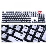 Tampões de chave de tom de prata para cherry mx outemu retroiluminado teclado mecânico 104 chave pbt conjunto com chave extrator