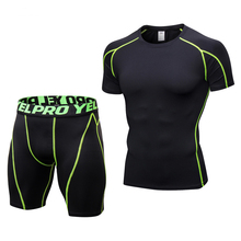 Tracksuits Workout Running Gym-Tights-Set Sport-Set Compression Fitness Men's NEW Male