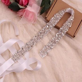 YJWSXF Bridal belt wedding dress pearl rhinestone dinner evening accessories