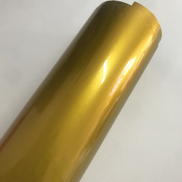 Синий глянцевый металлический блеск виниловая Автомобильная наклейка транспортное средство, Мопед автомобильные обертывания глянцевые конфеты металлическая виниловая пленка без пузырей - Название цвета: Gold