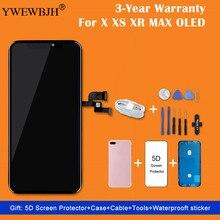 כיתה AAA + OEM עבור iPhone X S Max XR LCD תצוגה עבור Tianma AMOLED LCD מסך מגע עם Digitizer החלפת עצרת חלקי