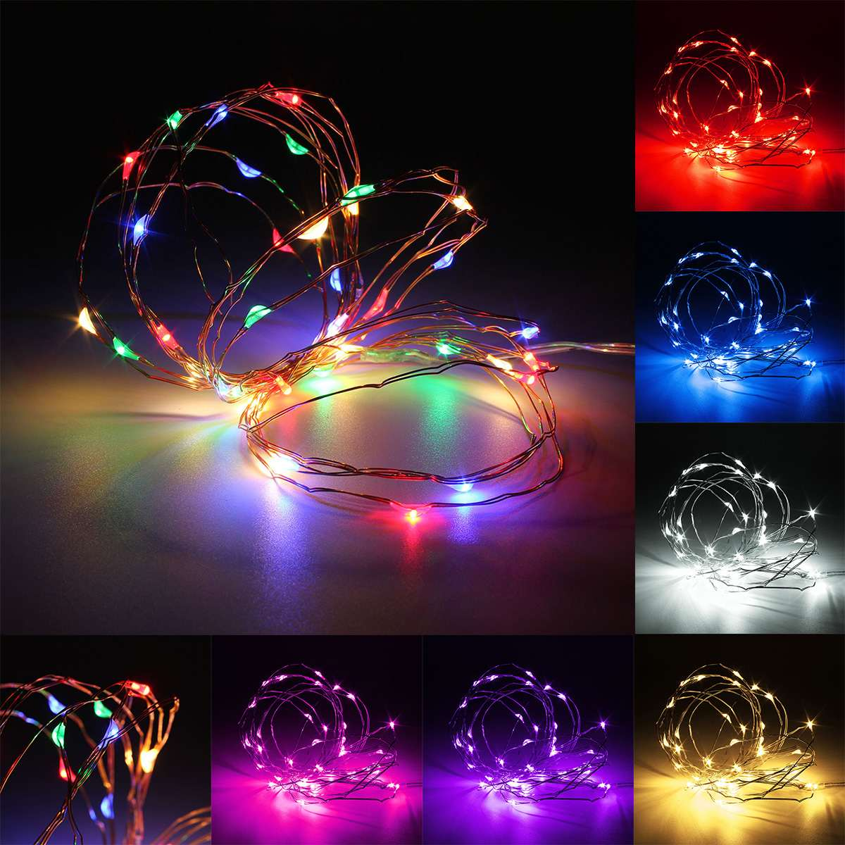 4M Copper Wire LED Fairy String Lights Outdoor Waterproof Decoration RGB Colorful Light For Christmas Wedding Party DC3V