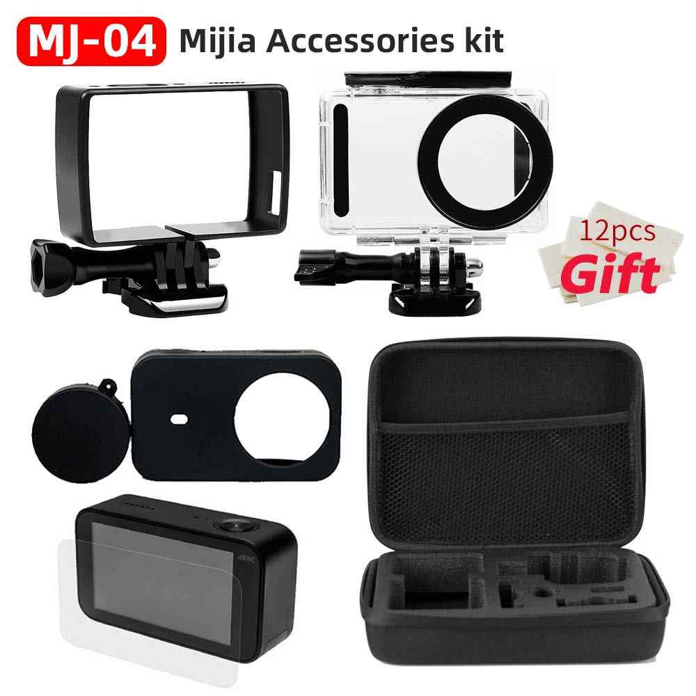 Mijia Cap-Protector Self Stick Waterproof Housing Case Box Shell Frame Cover Case Cover Lens for Xiaomi Mijia 4K Accessories Kit