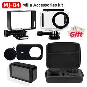 Image 3 - For Xiaomi Mijia 4K Accessories Kit Self Stick Waterproof Housing Case Box Frame Shell Cover Cap Protector Case Cover Lens Mijia