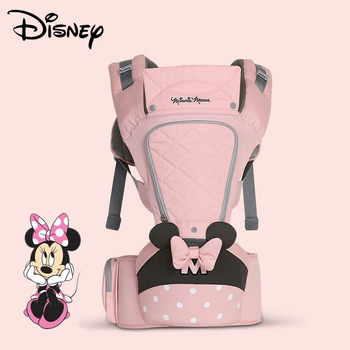 Disney 0-36 Months Bow Breathable Front Facing Baby Carrier Hipseat 20kg Infant Comfortable Sling Backpack Pouch Wrap Carriers Bags Kids