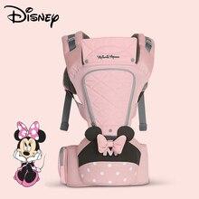 Disney faixa de bebê de 0 36 meses, laço respirável, suporte hipseat, mochila infantil confortável, bolsa envoltório transportadores