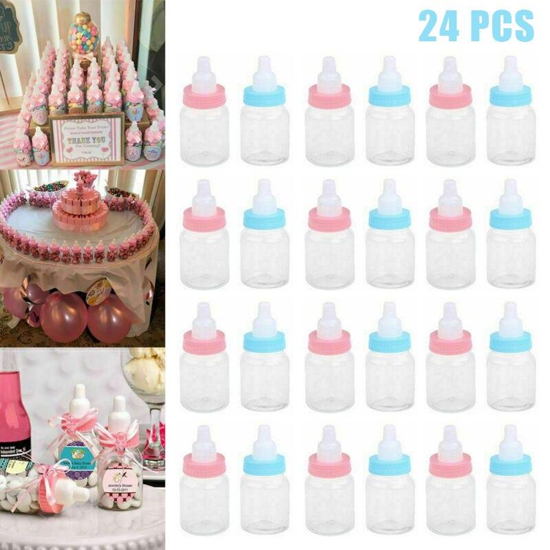24 teile/los Schnuller Form Flaschen Baby Dusche Candy Süße Box Flasche für Geburtstag Party Favors Geschenke Rosa/Blau