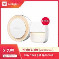 Xiaomi mijia YEELIGHT Luz Noturna Inteligente Reconhecimento Inteligente de Poupança de Energia Iluminação de Baixo Consumo de Energia Sensor de Luz