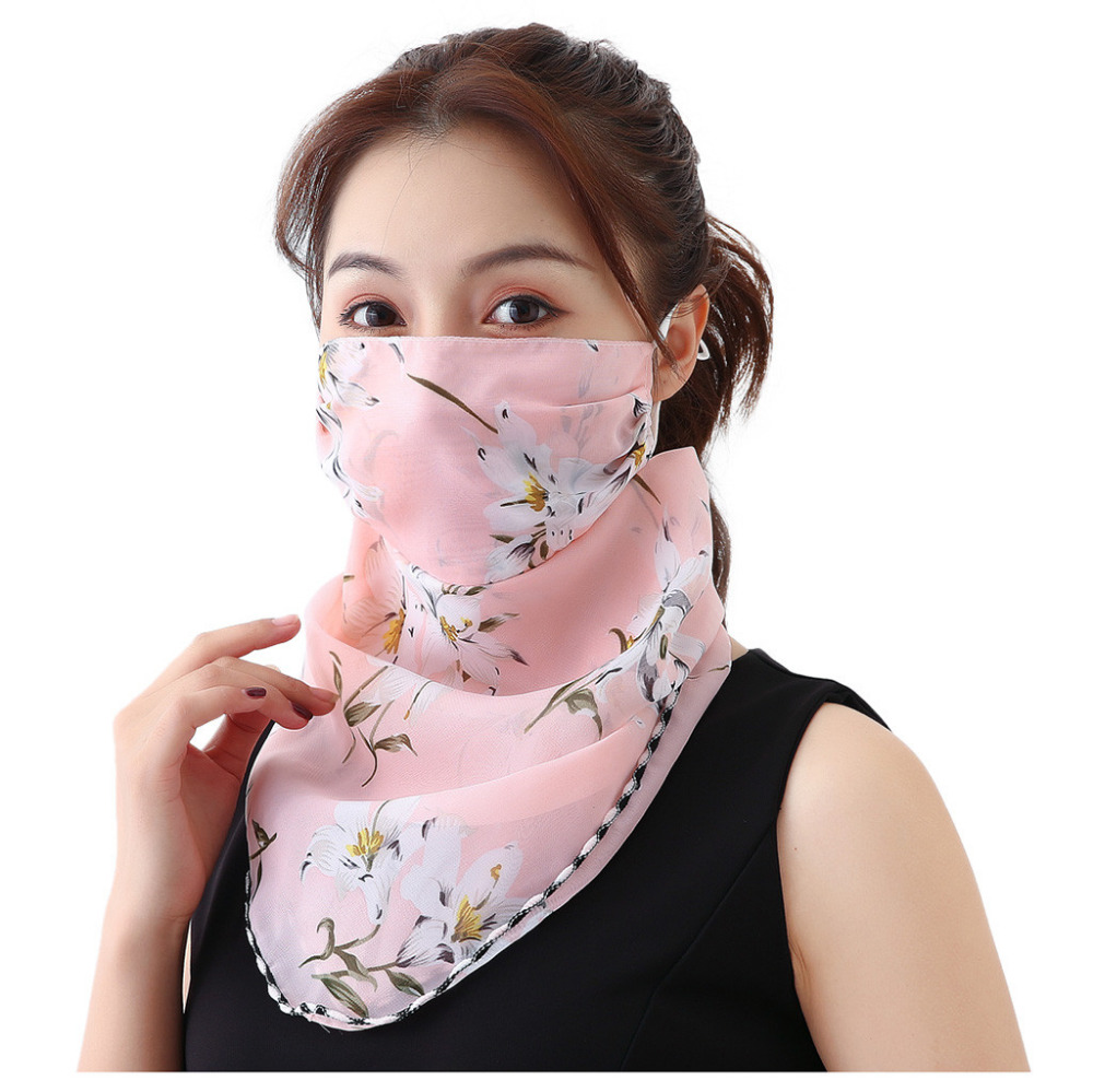 Women's Protective Washable Cotton Scarf Mask 14